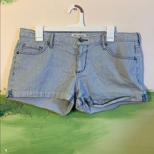 Lightly worn striped shorts